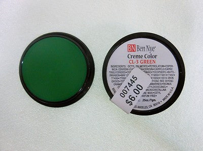 Ben Nye Primary Colors Creme Liners  Green CL-3 Creme Makeup .25oz