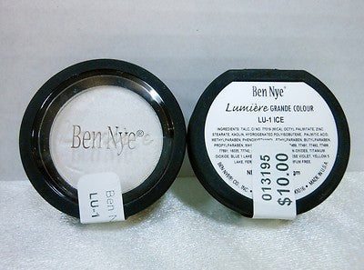 Ben Nye Pressed Lumiere Grande Color LU-1 Ice Eye Shadow, Body Shimmer