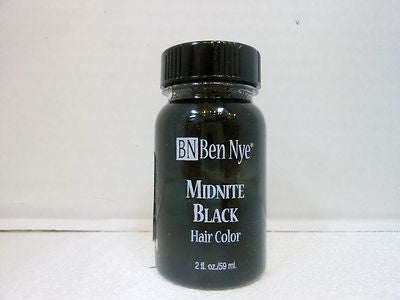 Ben Nye Liquid Hair Color Midnight Black MB-2  2fl.oz/59ml Brush On Wash Out