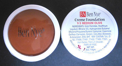 Ben Nye Creme Foundation Olive Series Y-3 Medium  Olive