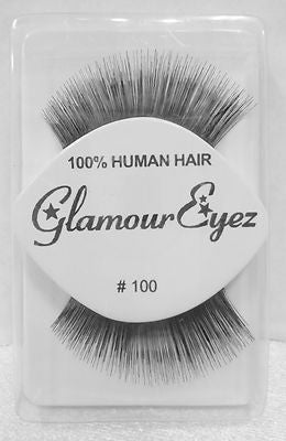 Glamour Eyez 100%  Human Hair Upper Eyelashes # 100 By Westbay