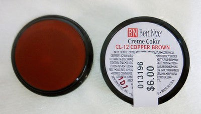 Ben Nye Primary Colors Creme Liners Copper Brown CL-12 Creme Makeup