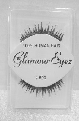Glamour Eyez 100% Human Hair Upper Eyelashes #600 By Westbay