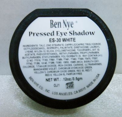 Ben Nye Pressed Eye Shadow ES-30 White Flat Matte Non-Shimmer