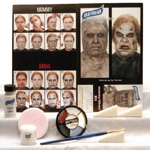 Mummy/Zombie Kit Complete Makeup Kit Graftobian Halloween, Special Effects Kit