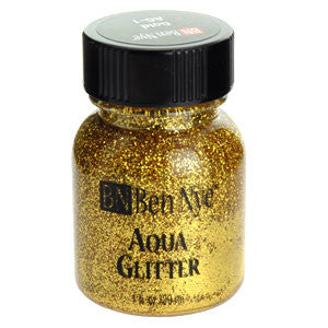 Ben Nye Aqua Glitter AG-1 Gold 1fl oz/29ml Face Paint, FX