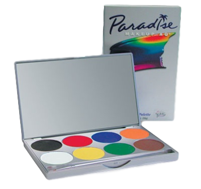 8-Color Basic Palette - Paradise Makeup AQ by Mehron Free Shipping!