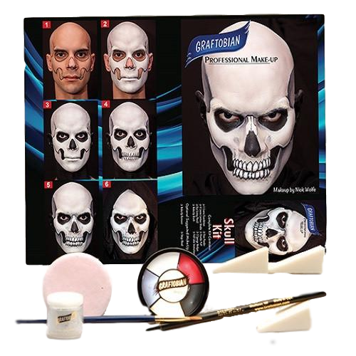 skull face makeup kit halloween horror makeup