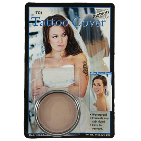 Mehron Tattoo Cream Cover UP TC1 Flaw Concealer, Birthmarks,  Discolorations