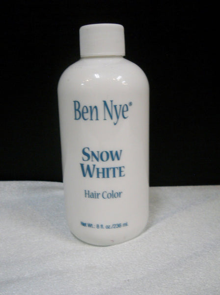 Ben Nye Liquid Hair Color Snow White HW-3 8fl.oz/236ml Brush On Wash Out