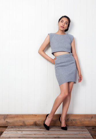 grey scuba separates matching set pistolette