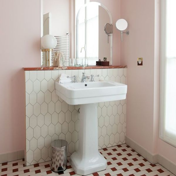 Baby Pink Bathroom