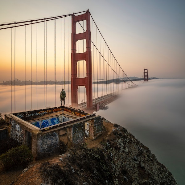 SAN FRANCISCO BRIDGE IN THE MIST | DYKE & DEAN