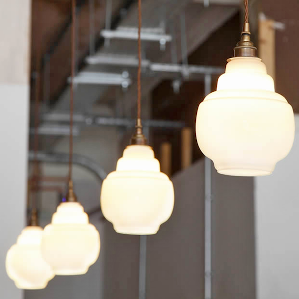 Stepped Glass Pendant Shades