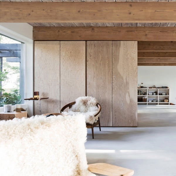 Wood and Sheepskin