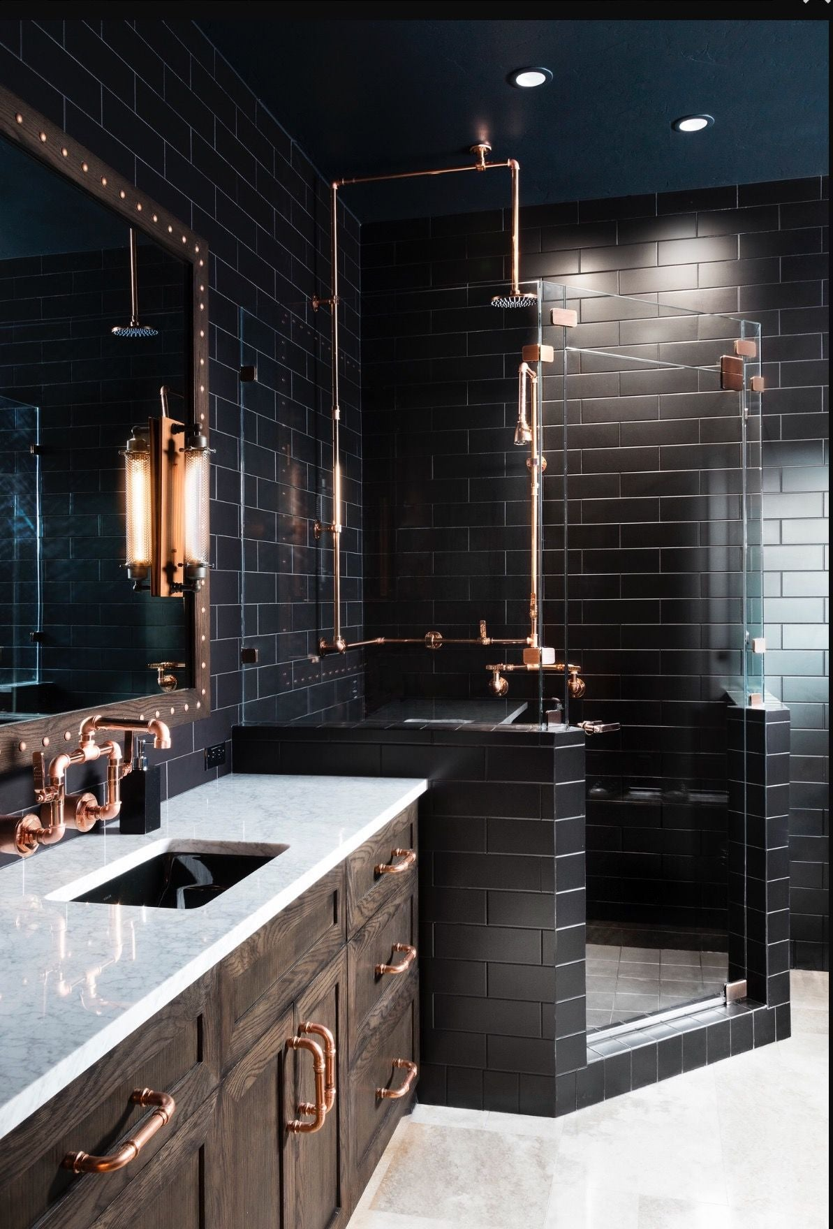 ELEGANT BLACK TILED BATHROOM | DYKE & DEAN