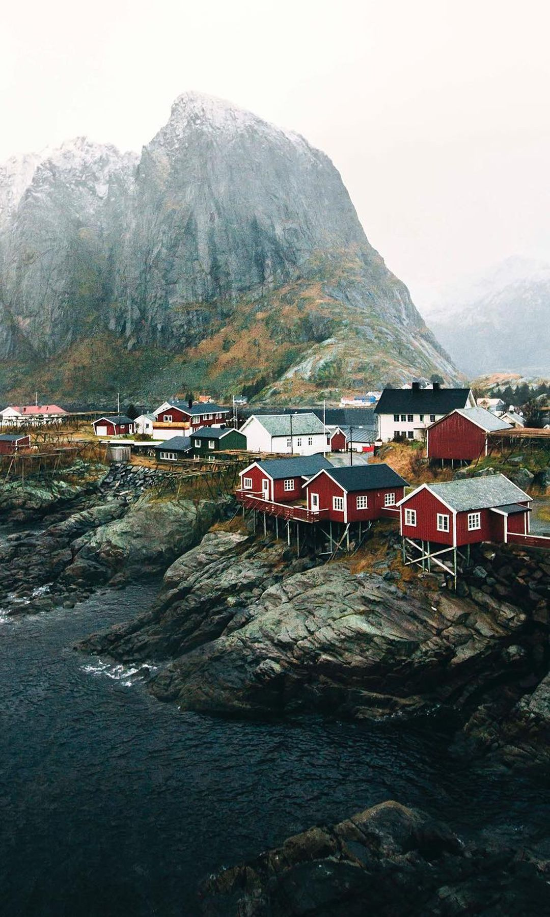 Norwegian red houses