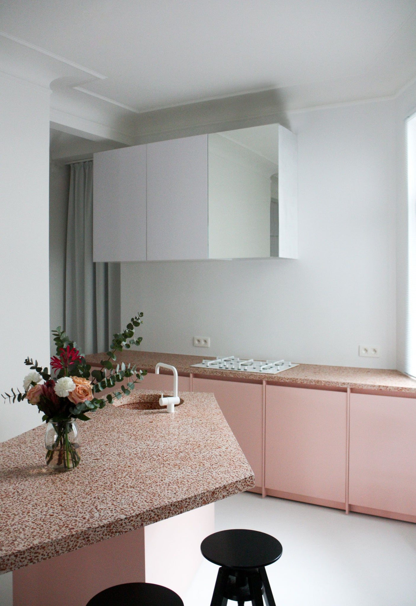 Wondrous Simple Pink Kitchen With Terrazzo Worktops Dyke Dean Gmtry Best Dining Table And Chair Ideas Images Gmtryco