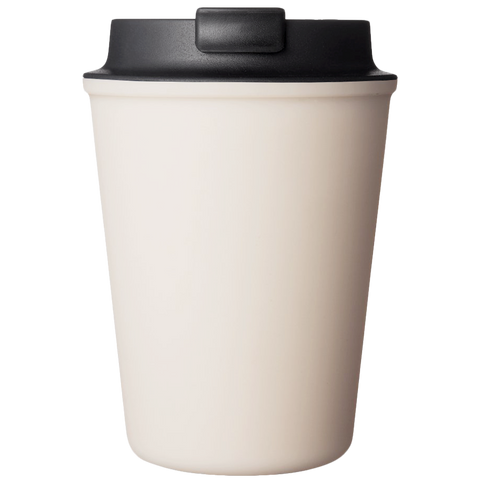 CREAM REUSABLE TRAVEL COFFEE CUP