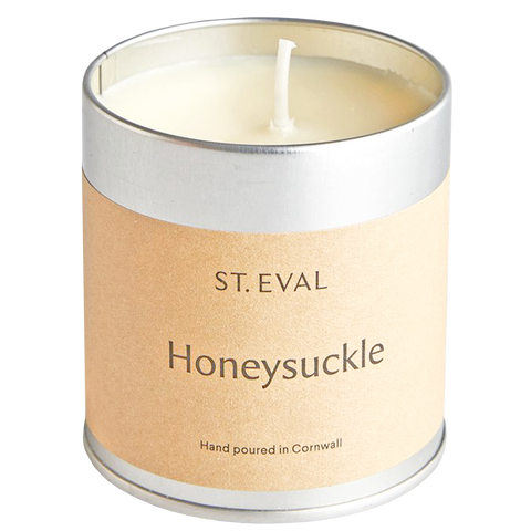 IVORY HONEYSUCKLE TIN CANDLE