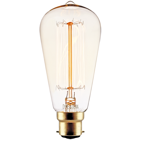 SQUIRREL CAGE EDISON BAYONET FILAMENT BULB 40W - BULBS - DYKE & DEAN  - Homewares | Lighting | Modern Home Furnishings