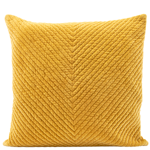 MUSTARD VELOUR CUSHION