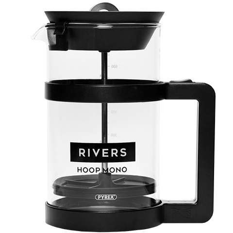 HOOP MONO BLACK FRENCH COFFEE PRESS