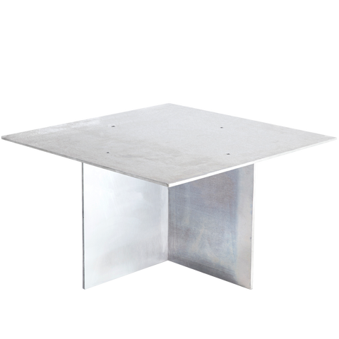 SQUARE ALUMINIUM COFFEE TABLE