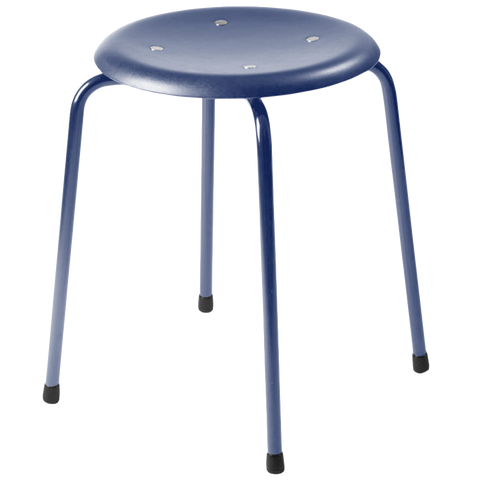 SB38 STOOL LOW STAINED WOOD