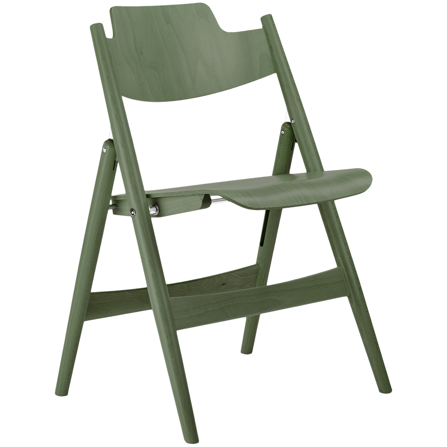 SE18 FOLDING CHAIR STAINED WOOD