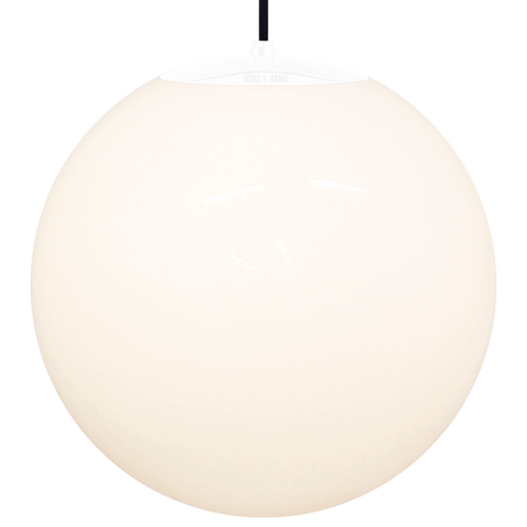 OPAL GLOBE PENDANT WHITE 500mm - GLASS PENDANTS - DYKE & DEAN  - Homewares | Lighting | Modern Home Furnishings