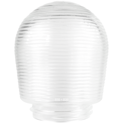 RIBBED DOME CLEAR GLASS 85mm