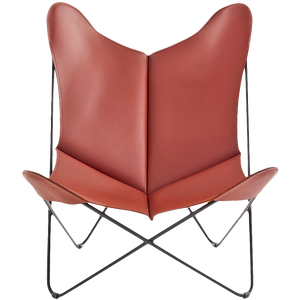 LEATHER BUTTERFLY CHAIR 5014 - LOUNGE CHAIRS - DYKE & DEAN  - Homewares | Lighting | Modern Home Furnishings