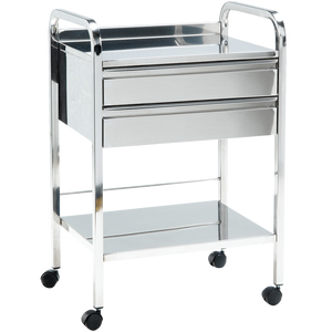 ADICO SIDE TABLE TROLLEY CHROME 1145