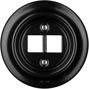 PORCELAIN WALL SOCKET MATT BLACK PC/USB