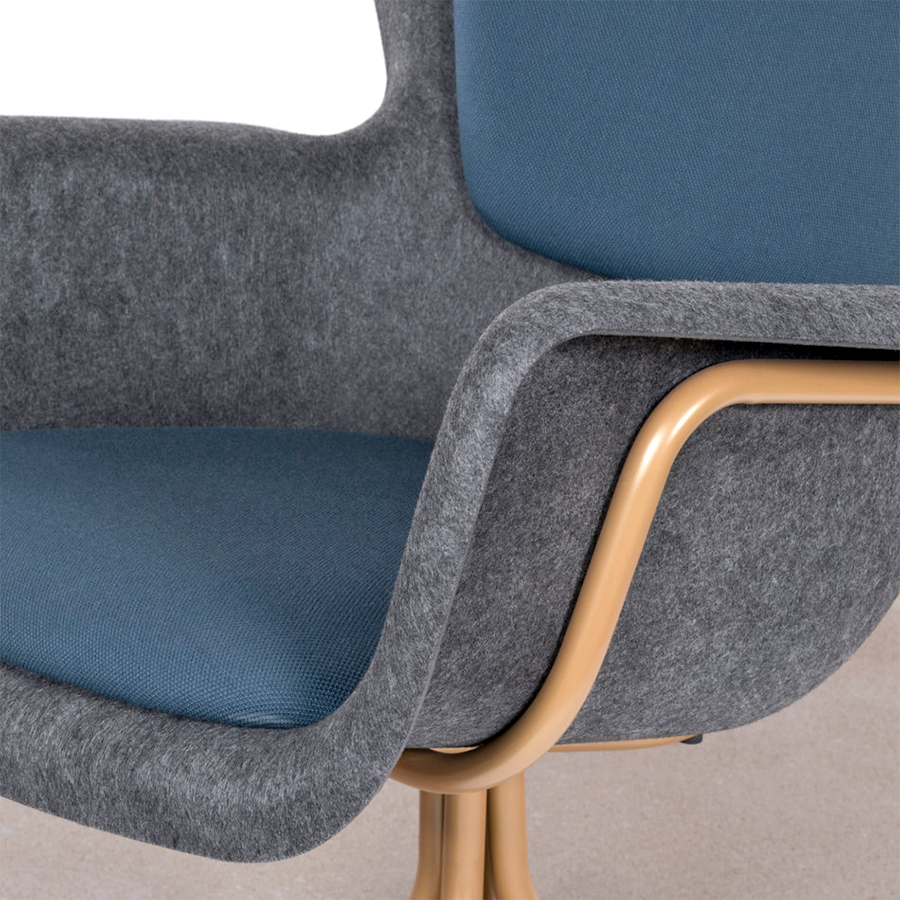 SHELL ARMCHAIR DARK GREY – DYKE & DEAN