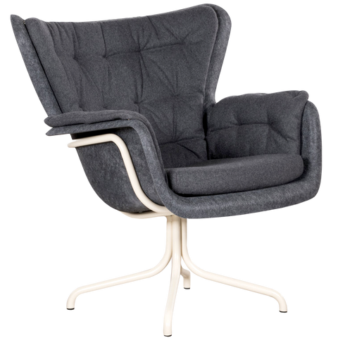 SHELL ARMCHAIR DARK GREY