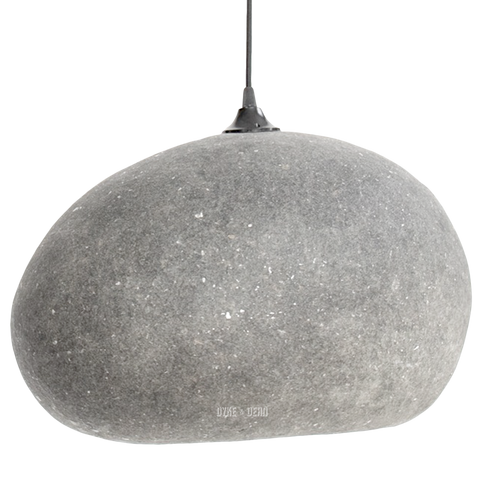 PEBBLE LIGHT GREY LARGE - NATURAL PENDANTS - DYKE & DEAN  - Homewares | Lighting | Modern Home Furnishings