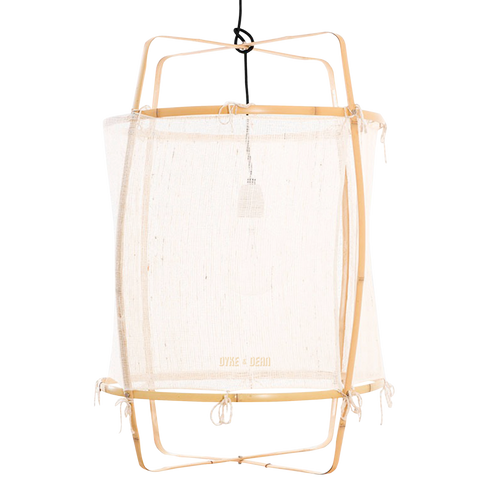 Z22 BLONDE WOOD SILK WHITE PENDANT