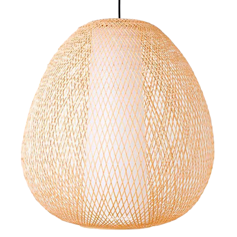BAMBOO TWIGGY EGG NATURAL PENDANT