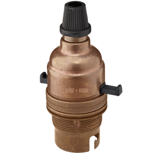 BAYONET SWITCHED BULB HOLDER BRONZE EFFECT