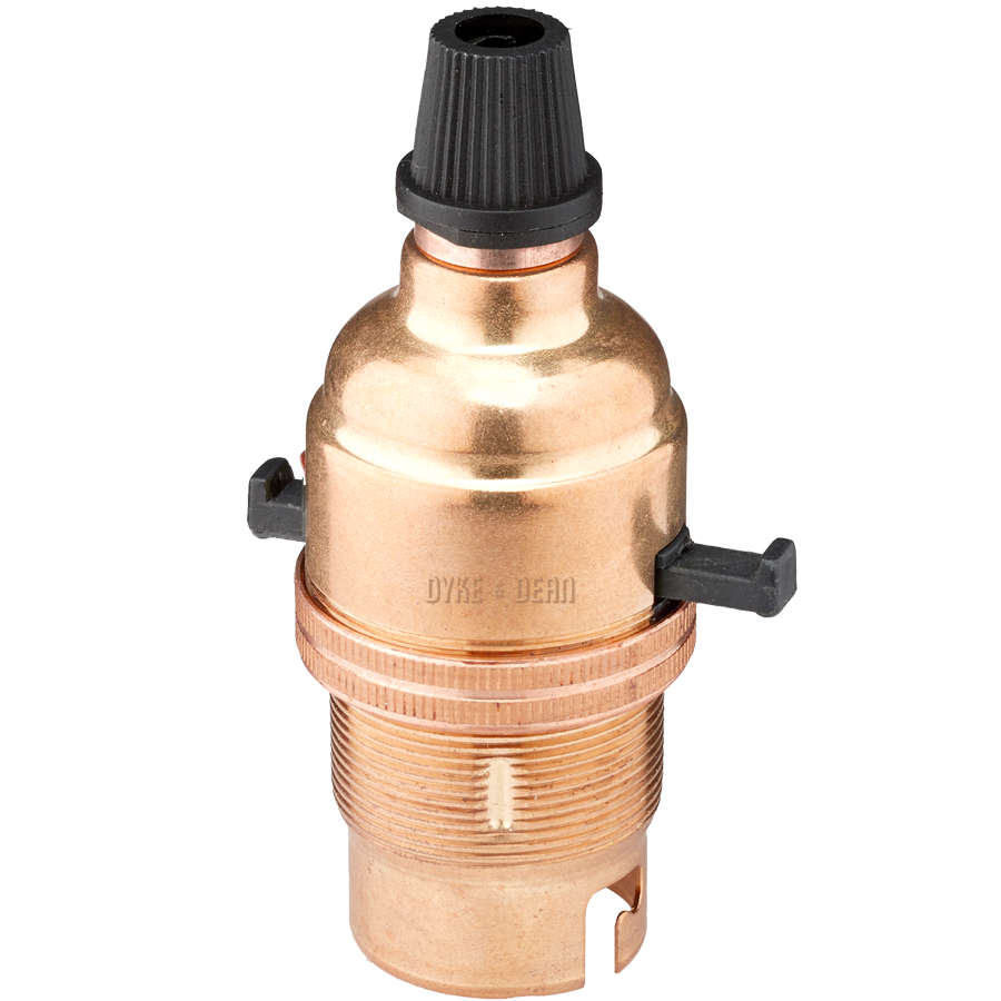 BAYONET SWITCHED BULB HOLDER COPPER