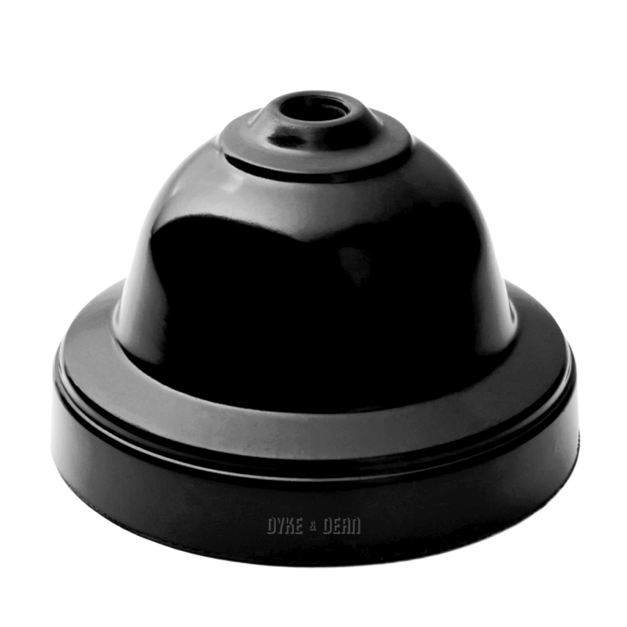 BAKELITE CEILING ROSE BLACK - CEILING ROSES - DYKE & DEAN  - Homewares | Lighting | Modern Home Furnishings