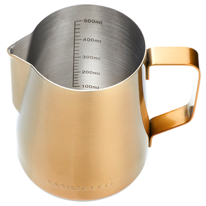 GOLD COFFEE MILK FROTHING JUG & PITCHER 600ML