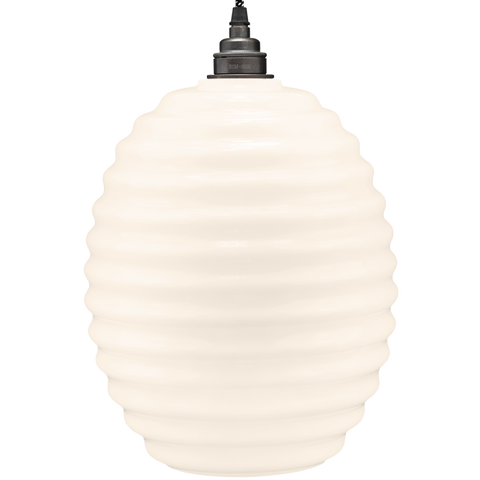 HIVE OPALINE GLASS PENDANT SHADE - GLASS PENDANTS - DYKE & DEAN  - Homewares | Lighting | Modern Home Furnishings