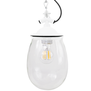 BELL JAR INDUSTRIAL LIGHT WHITE CLEAR GLASS