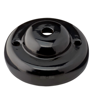 SMALL DOME BLACK CERAMIC CEILING ROSE