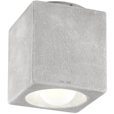 CONCRETE PORCELAIN CUBE CEILING DOWNLIGHT E27