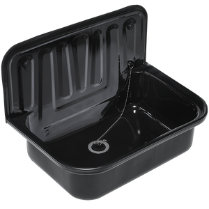 DYKE & DEAN BLACK ENAMEL BUCKET SINK BLACK RIM