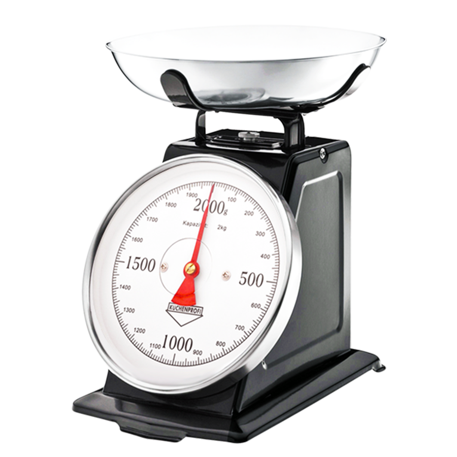 BLACK CLASSIC KITCHEN SCALES